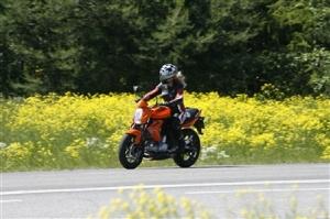 Rättvisare körprov på motorcykel